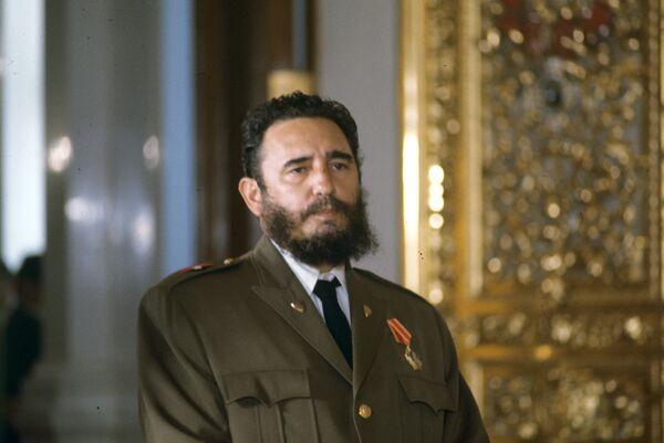 Архивное фото Фиделя Алехандро Кастро Рус, Первого Секретаря ЦК КП Республики Кубы, Премьер-министра Революционного правительства Республики Кубы - Sputnik Абхазия