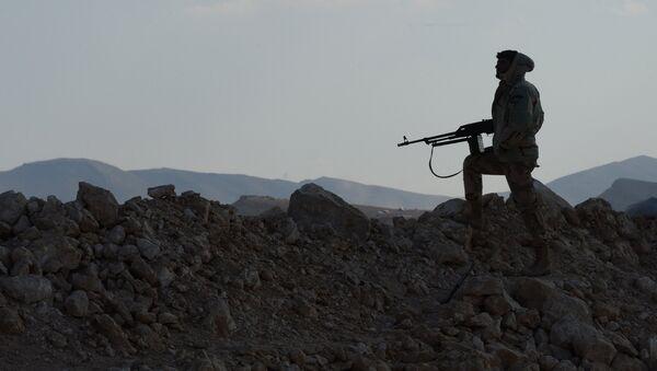 Боец отряда ополчения - Sputnik Абхазия