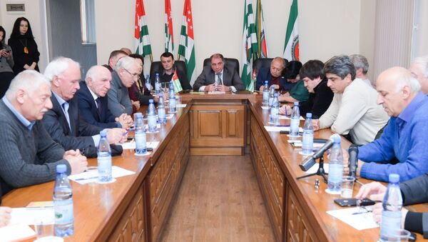 Съезд политсовета Единной Абхазии - Sputnik Абхазия