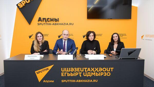 Пресс-конференция министерства культуры по итогам участия в Санкт-Петербургском культурном форуме - Sputnik Абхазия