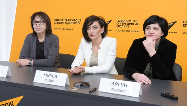 Пресс-конференция автором проекта Споем вместе в Sputnik Абхазия - Sputnik Абхазия
