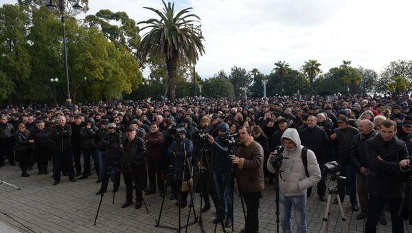 Митинг Блока оппозиционных сил - Sputnik Аҧсны