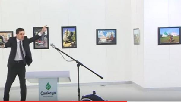 В сети появилось видео момента покушения на посла РФ в Анкаре - Sputnik Абхазия
