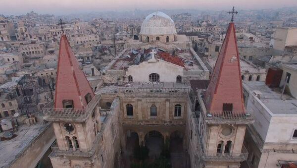 С высоты птичьего полета: северная столица Сирии после изгнания боевиков - Sputnik Абхазия
