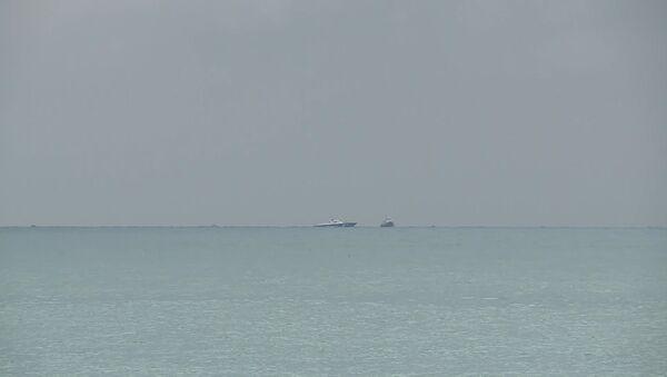 Первые кадры с места падения летевшего в Латакию самолета Ту-154 - Sputnik Абхазия
