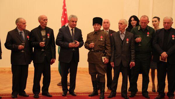 Рауль Хаджимба вручил орден Ахьдз-Апша выдающимся деятелям Абхазии - Sputnik Абхазия