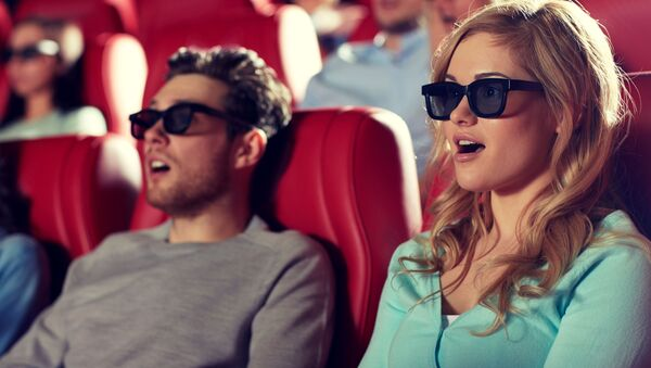 Удивленные люди в кинотеатре - Sputnik Абхазия