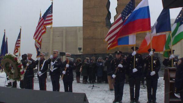 Гимн РФ в исполнении американцев – в США почтили память жертв крушения Ту-154 - Sputnik Абхазия