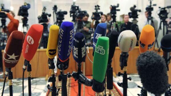 Микрофоны российских телеканалов - Sputnik Абхазия