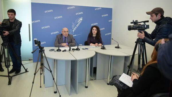 Гәылрыԥшь араион ахада Аслан Бараҭелиа АРСМИРА аҿы имҩаԥигеит апресс-конференциа - Sputnik Аҧсны