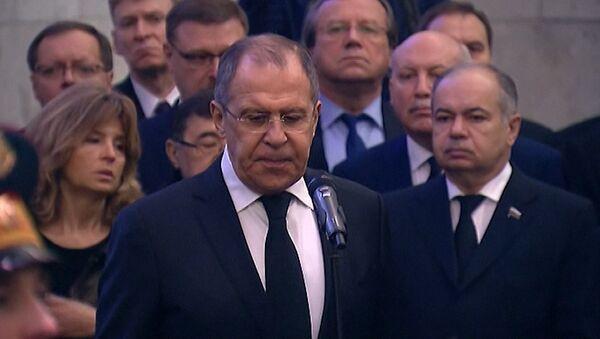 Церемония прощания с постоянным представителем РФ при ООН Виталием Чуркиным - Sputnik Абхазия