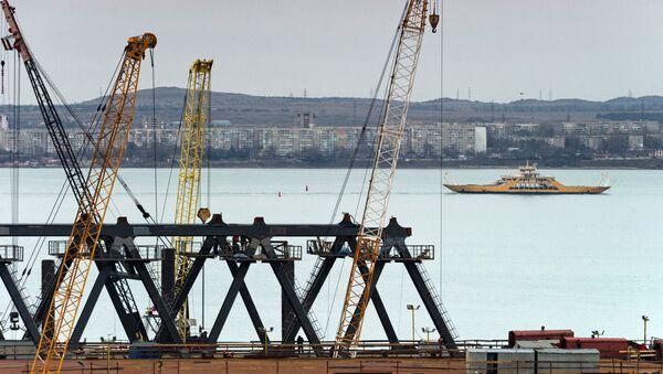 Строительство моста через Керченский пролив в Крыму - Sputnik Аҧсны