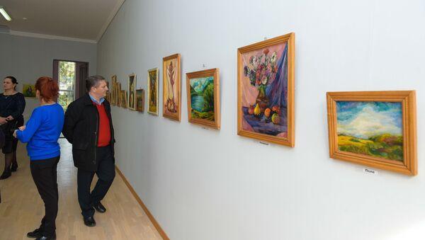 Персональная выставка Елена Квеквескири в доме творчества Айнар - Sputnik Аҧсны