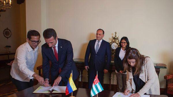 Абхазия подписала соглашение с венесуэльским медиа-холдингом - Sputnik Абхазия
