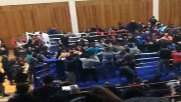 Массовая драка после боя чемпионата по ММА - Sputnik Абхазия