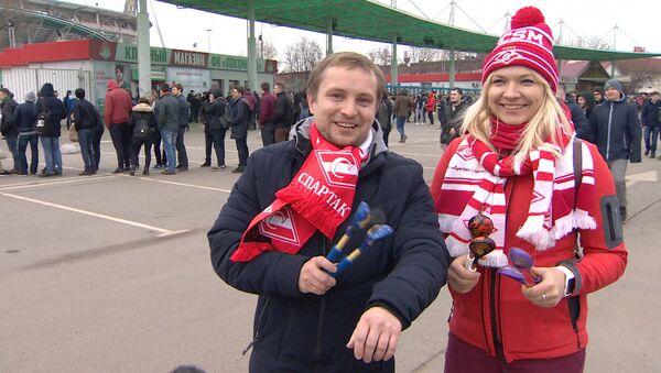 Российские футбольные фанаты испытали ложки победы в действии - Sputnik Абхазия