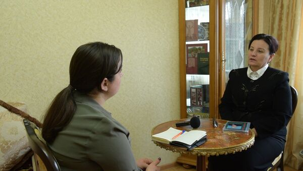 Ажурналист Екатерина Бебиа дылгәалалыршәоит Константин Озган - Sputnik Аҧсны
