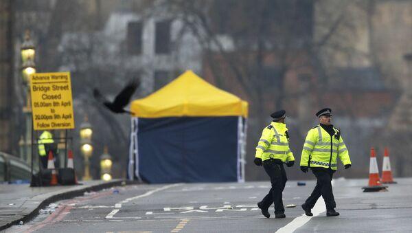 Следователи и полиция на месте теракта на Вестминстерском мосту в Лондоне - Sputnik Абхазия