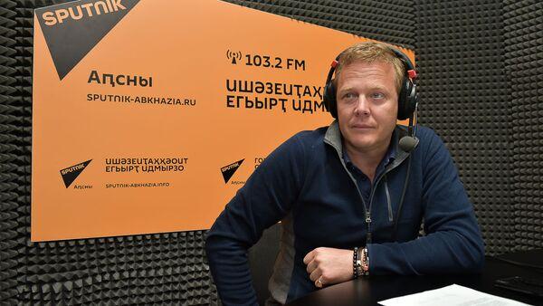 Джон Уоррен в радиостудии Sputnik Абхазия - Sputnik Абхазия