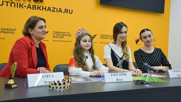 Лали Сичинава и Ялса Зантария на пресс-конференции в Sputnik Абхазия - Sputnik Абхазия