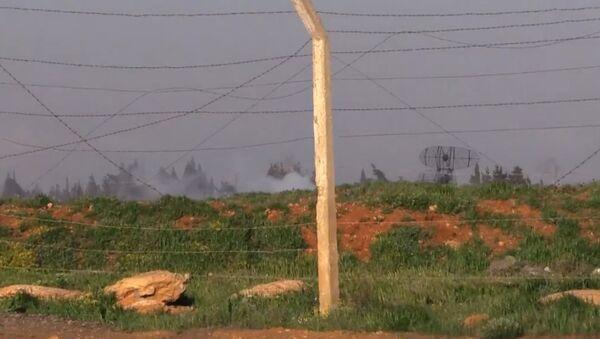 Кадры сирийской базы, по которой нанесли удар США - Sputnik Абхазия