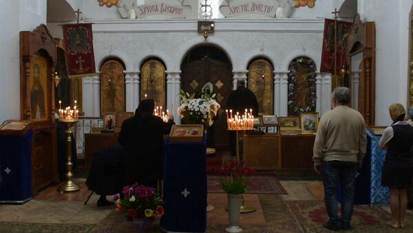 Благовещение в Сухумском соборе: кадры литургии - Sputnik Абхазия