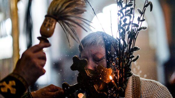 Вербное воскресенье в городах России - Sputnik Абхазия