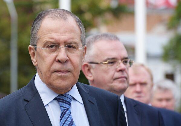 Встреча министра иностранных дел РФ С. Лаврова и президента Абхазии Р. Хаджимба - Sputnik Абхазия