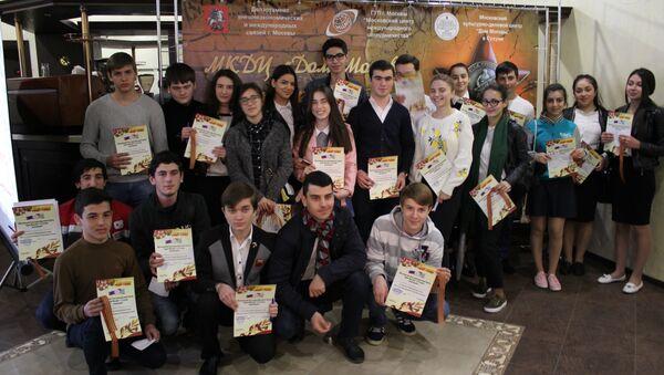Участники теста по истории Великой Отечественной войны в Доме Москвы - Sputnik Абхазия