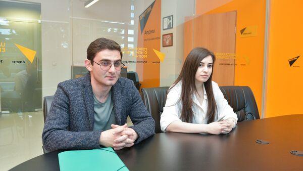 Эмиль Адлейба и Лиана Тванба - Sputnik Абхазия