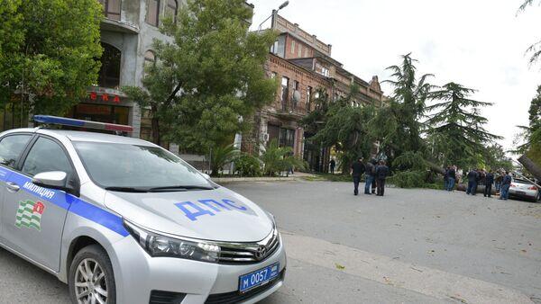 Последствия сильного ветер в Сухуме 23 апреля 2017 года - Sputnik Абхазия