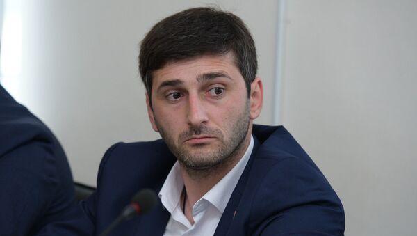Депутат Юрий Хагуш на второй сессии парламента Абхазии шестого созыва - Sputnik Аҧсны
