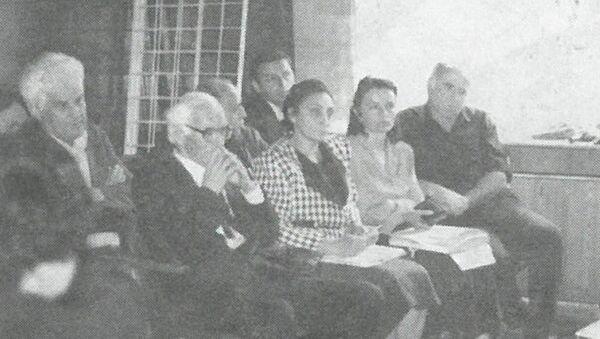 Олег Шамба, Николаи Саӡба,Лиудмила Цобехьиа,Екатерина Бебиа,Семион Адлеиба, Анатоли Лагәлаа. - Sputnik Аҧсны