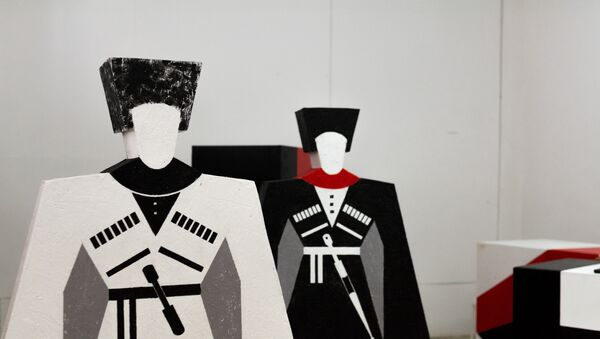 Подготовка инсталляции Храм поэзии к столетию Баграта Шинкуба - Sputnik Абхазия