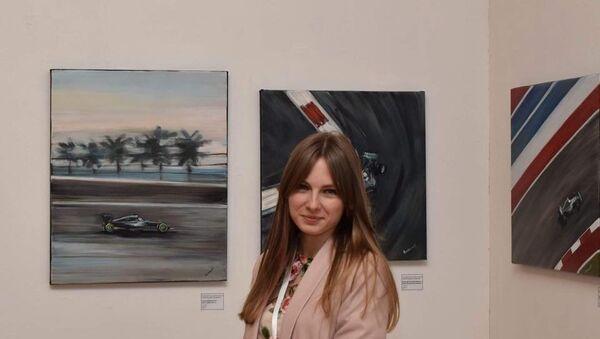 Екатерина Гуськова на международной выставке картин ARvesT Expo 2017 Yerevan - Sputnik Абхазия