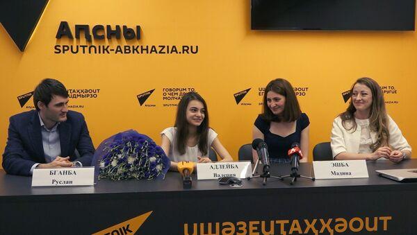Пресс-конференция Валерии Адлейба в Sputnik Абхазия - Sputnik Абхазия