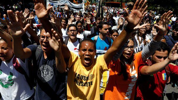 Марш оппозиции в Венесуэле - Sputnik Абхазия