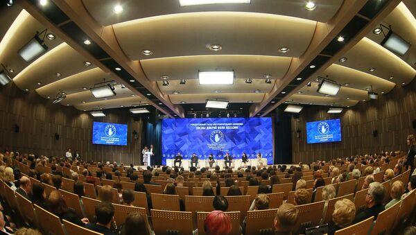 Учредительный съезд благотворительного движения Послы доброй воли Абхазии в Международном мультимедийном пресс-центре МИА Россия сегодня - Sputnik Абхазия