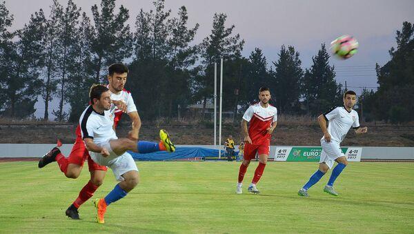 Сборная Абхазии и Сборная Северного Кипра  во время матча на чемпионате Conifa 2017 - Sputnik Абхазия