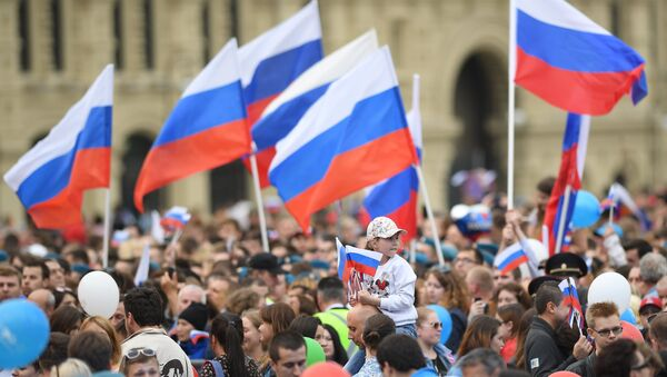 Праздничный концерт, посвященный Дню России, на Красной площади - Sputnik Абхазия