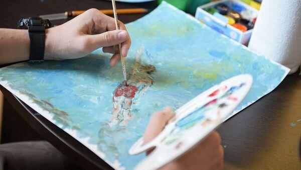 Конкурс детских рисунков Детство Чика по произведениям Фазиля Искандера - Sputnik Аҧсны