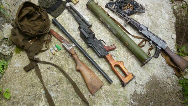 Схрон оружия и боеприпасов в Галском районе - Sputnik Аҧсны