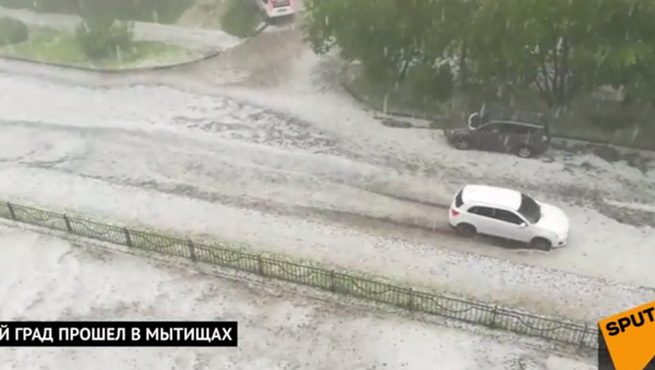 Мощный град обрушился на Мытищи - Sputnik Абхазия