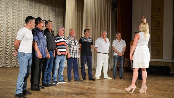 Государственный ансамбль Республики Южная Осетия Симд во время репетиции - Sputnik Абхазия