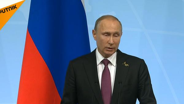 Пресс-конференция Владимира Путина в рамках саммита G20 - Sputnik Абхазия