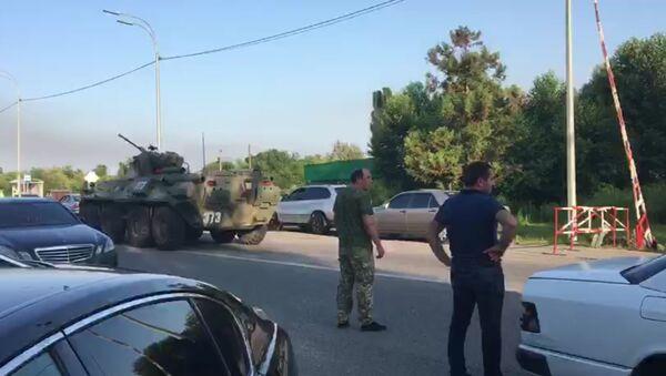 Бронетехника прибыла к месту взрыва в Приморском - Sputnik Абхазия