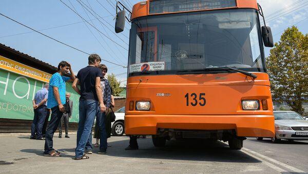 Запуск троллейбусной ветки Рынок - Маяк - Sputnik Абхазия
