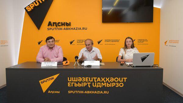 Пресс-конференция Гала-концерта Дружба без гнраниц - Sputnik Абхазия