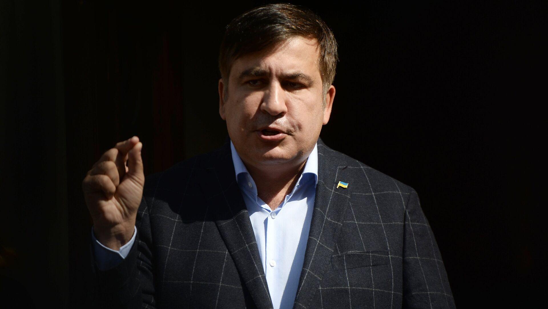 Бывший президент Грузии, экс-губернатор Одесской области Михаил Саакашвили - Sputnik Аҧсны, 1920, 01.10.2021