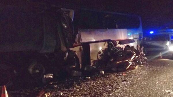 На Кубани в ДТП с автобусом погибли шесть человек - Sputnik Аҧсны